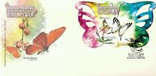 Butterflies Malaysia 2008 Insect Flower Flora (FDC) *Die Cut *unusual *odd shape