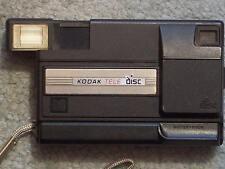 "KODAK TELE DISC CAMERA ""NOT WORKING"" STICKER 8/7/96 GOLD FILM 15 EXP DISC INSIDE"