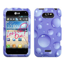 For LG Motion 4G / Optimus Regard HARD Case Snap On Phone Cover Purple Dots