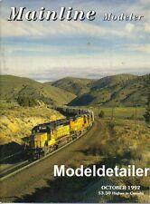 Mainline Modeler Oct.92 CB&Q F2 Diesel ARA Box Ash Pit Southern Pacific Caboose