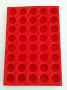 Lots de 10 plateau plateaux feutrine rouge rond sans couvercle