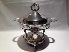 Silver Plated Round Chafing Dish Food Warmer Stand
