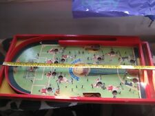 A 100% GENUINE RARE 1950s SOCCATELLE PINBALL WOODEN TABLE (ONLY CENTRE FIREING )
