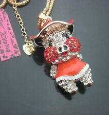 Red Piggy PERSONALITY NECKLACE & CHARM CRYSTAL ALLOY BLING