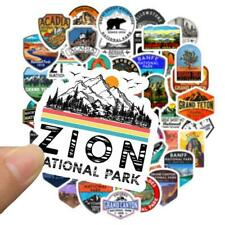 50Pcs National Park Decal Stickers Travel Vinyl Stickers Hike Cars RV Flask