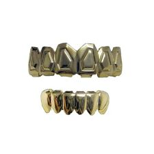 Hip hop bling Bling Grillz Set Bling Grillz Top & Bottom Tombstone Teeth