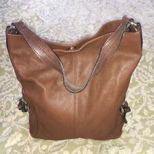 TANO Brown Leather Hobo Handbag Purse Bag-VERY NICE