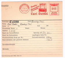 Spiegel Kommode 1937 Eisenberg Holz Handwerker AFS f grosse Sammlung Archivkarte