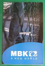 MBK SCOOTER 2000 STUNT  POSTER DEPLIANT CATALOGO BROCHURE CATALOG