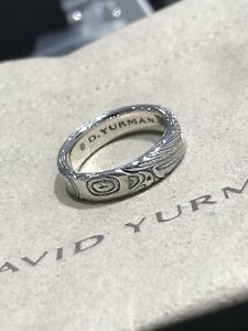 David Yurman Northwest 925 Sterling Silver Native American Totem Band Size 11.5