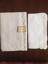Battenberg Lace 45X45 Tablecloth/Topper & 6 Napkins: 938W-45 -Boutross
