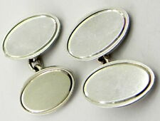Vintage Solid Silver Cufflinks, Birmingham 1979, By Henry Griffiths.