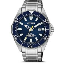 Citizen Men's Promaster Diver's 200M Titanium Eco-Drive Watch BN0201-88L NEW