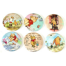 Winnie the Pooh Fridge Magnets Set 6pc 55mm Round Kitchen Decor Gift