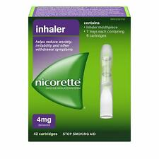 Nicorette 4mg inhalador [42 Cartuchos, 4MG deja de parada dejar de fumar ayuda] NUEVO
