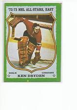 KEN DRYDEN 1973-74 Topps card #10 Montreal Canadiens VG+