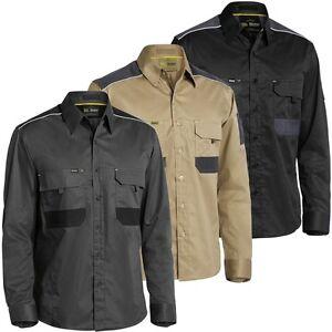 Bisley Workwear - Flex & Move Mechanical Stretch Shirt - Long Sleeve (BS6133)