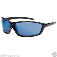 Bolle Safety Glasses - Prowler - Gloss Black Frame - Blue Flash Lens