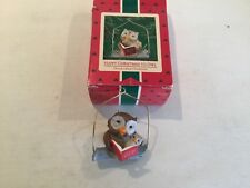 Hallmark Owl 1986 Ornament Keepsake Happy Christmas Collector's Stories Book