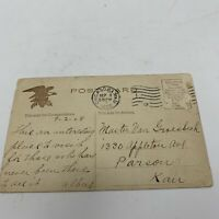 Antique Vintage 1908 Postcard Stockyards Chicago Illinois 1 cent stamp