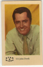 1960s Swedish Film Star Card Star Bilder A #111 US Actor Director John Derek