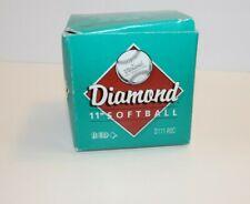 "Diamond 11"" Softball Red D111-Rsc Red Stitch Gwdp 47 C.O.R Leather Asa Licensed"