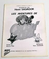 Partition sheet music HENRI SALVADOR : Aventures de Croqu'Soleil * 80's TV