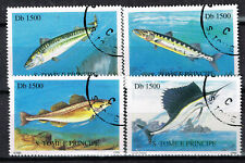 St.Tome and Principe Fauna Marine Life Big Fish set 1996