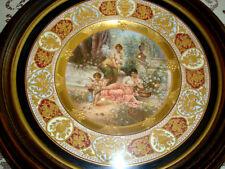 """Antique Art Nouveau WAGNER Royal Vienna Porcelain Hand Painted Plate""""Abgeblitzt"""""""
