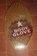 "Body Glove Stella Wood Beach Water Skim Surf Board Wall Art 37"" USA Seller"