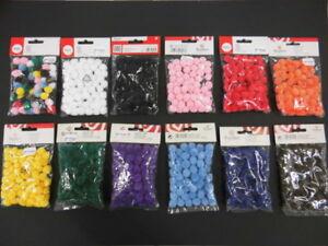 Pompons Rayher Plüschkugeln Einfarbig Uni Größenauswahl Farbauswahl Neu