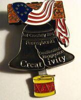 Liberty Bell Lapel Pin - Let Creativity Ring Pennsylvania American Flag Drum Pin