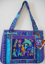 Laurel Burch Medium/Large Tote Bag Mythical Dogs Dancing New