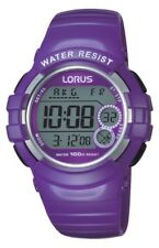 Lorus by Seiko R2385HX9 Purple Child's Digital Wristwatch 100m Light Stopwatch