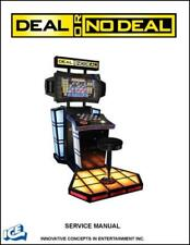 Deal or No Deal Game Operations/Service/Repair Manual/Video Arcade Mannual Tb