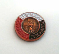 """US NAVY HONORABLE DISCHARGE (SMALL MINI 5/8"""") US NAVY Military Hat Pin P15677 EE"""