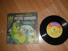 """WALT DISNEY PETE'S DRAGON WITH SONGS FROM THE FILM 7"""" SINGLE 1977 EXC"""