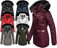 Navahoo Damen Winter Jacke FVS3 Parka Mantel Outdoor warm gefüttert SCHÄTZCHEN
