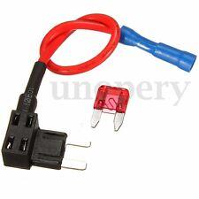 12V 24V Circuit Mini Blade Fuse Splice Holder ATM APM Piggy Back Fuses Tap 10amp