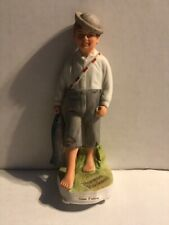 "1984 Norman Rockwell Porcelain Figurine Limited ""Gone Fishing� May 3, 1919"