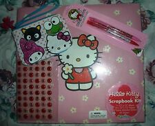 Hello Kitty Pink Large Scrapbook Photo Sticker Album Sanrio Unused 2007 w/Extras