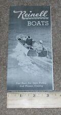 Vntg REINELL Boat Dealer Stamped Sales Brochure Catalog SEA GULL PAL ALBATROSS +