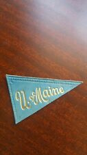 Antique Tobacco Cigarette Promo Leather College Pennant Patch U.Of Maine Rare!
