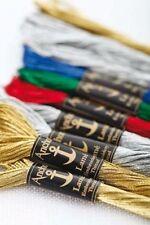 Anchor Lame/metallic Anchor Embroidery Thread - One 8 metre skein - 6 colours