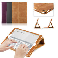 """Genuine Leather Smart Wake/Sleep Stand Case Cover for Apple iPad 9.7"""" 2017/2018"""