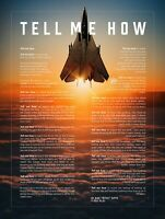 Tell Me How poster ready for framing, F-14 Tomcat