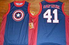 Marvel Comics Captain America Basketball Jersey Sleeveless T-Shirt Tank Licensed