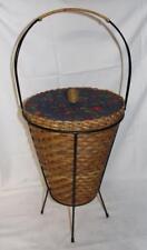 50er 1950s Mid-Century KORB Aufbewahrung Nähkorb Sewing Basket Nähen Rockabilly