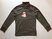Nwt Celio Men's Long Sleeve Polo Shirt Army Green Color Size Medium M