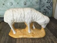 Sheep Figurine White Ceramic Sheep Ewe Must Have Farmhouse Cute